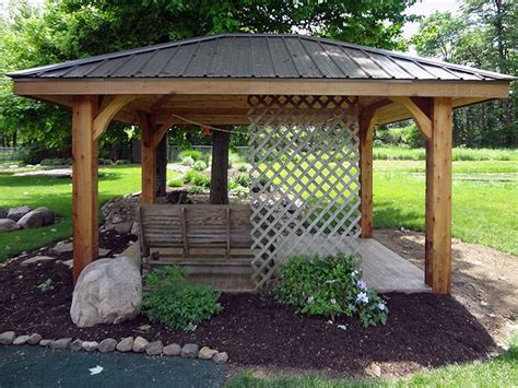 pavillon flachdach metall 27 best images about gazebo ideas on gardens