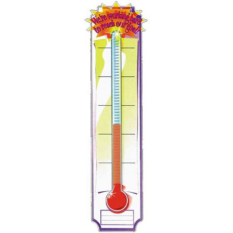 printable thermometer banner goal setting thermometer clipart clipart suggest
