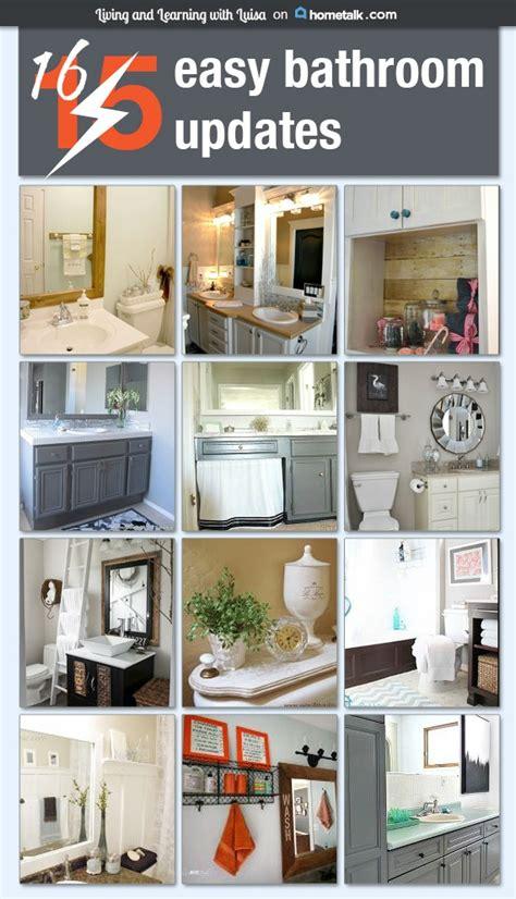 simple bathroom updates 16 easy bathroom updates