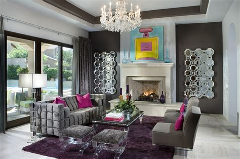 living room decor ideas glamorous chic in grey and pink color a look at 20 chic eclectic living rooms homes of the rich