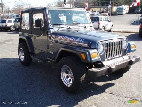 2001 steel blue pearl jeep wrangler sport 4x4 12683937 photo 4 gtcarlot car color