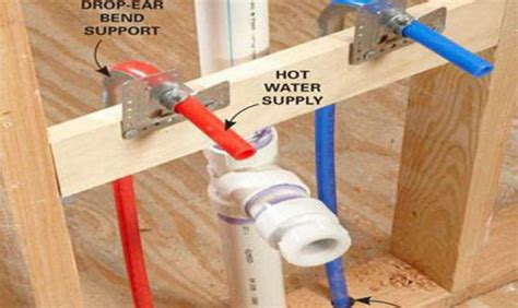 pex support through floor stub 15 best photo of plastic water lines vs copper ideas