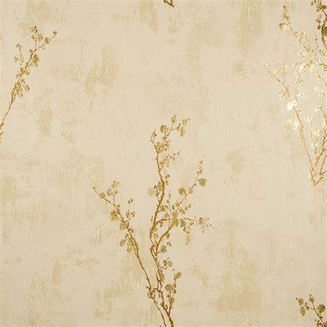 Winnie The Pooh Stickers For Walls cream and gold zen wallpaper