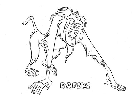 rafiki the lion king coloring page
