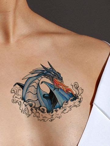 fire breathing dragon tattoo designs blue asiftattooed aussies and