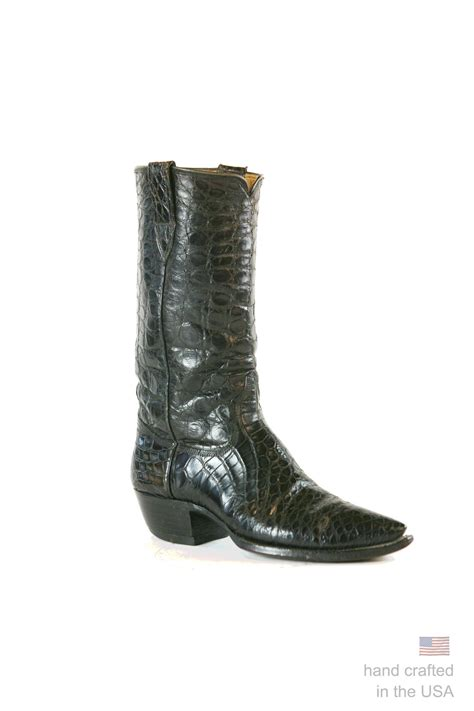 American Handmade Boots - custom alligator cowboy boots handmade in the u s a