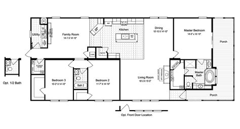 floor plan la view the la sierra floor plan for a 2077 sq ft palm harbor