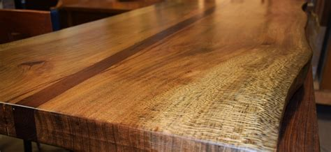 sycamore woodworking custom live edge sycamore and walnut table top