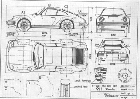 car plans porsche 911 turbo blueprint download free blueprint for