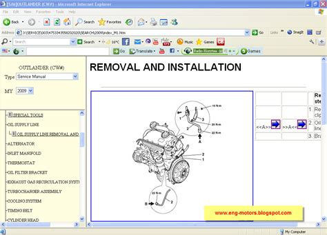 online car repair manuals free 2012 mitsubishi outlander sport on board diagnostic system mitsubishi outlander workshop service spare parts catalog