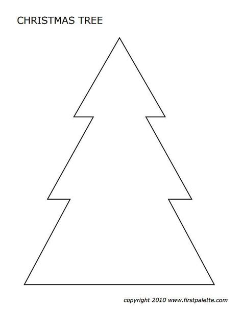 christmas tree shapes coloring page christmas tree templates in all shapes and sizes trees