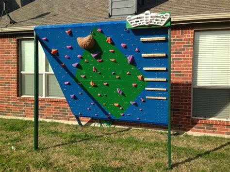 backyard climbing and wall