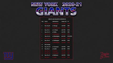 york giants wallpaper schedule