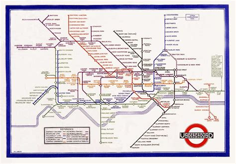 printable version of london tube map mapcarte 1 365 london underground pocket railways map by