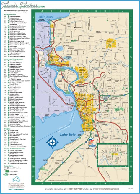 Pdf Buffalo New York Dept by Buffalo Map Tourist Attractions Travelsfinders