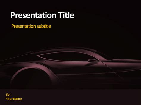 powerpoint themes cars free powerpoint template cars funkyme info