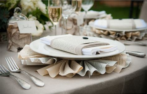Recycled Wedding Decorations by Recycled Paper Wedding Reception Table Decor Onewed
