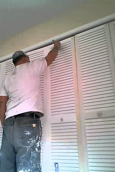 How To Paint Louvered Closet Doors Pro Painting Of Louvered Door By Dan The