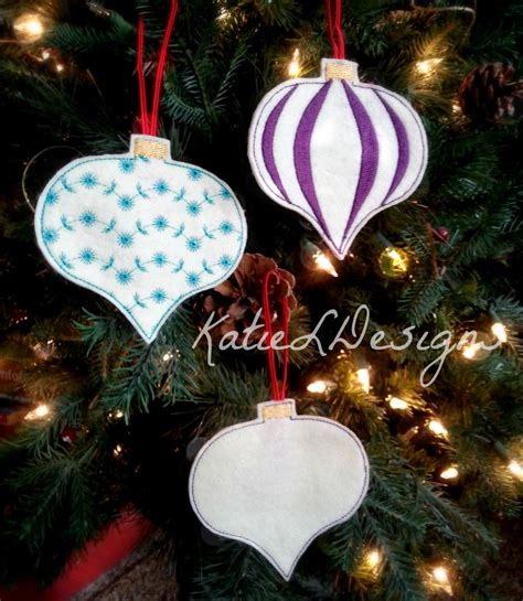 in the hoop christmas ornament set 1 machine embroidery design