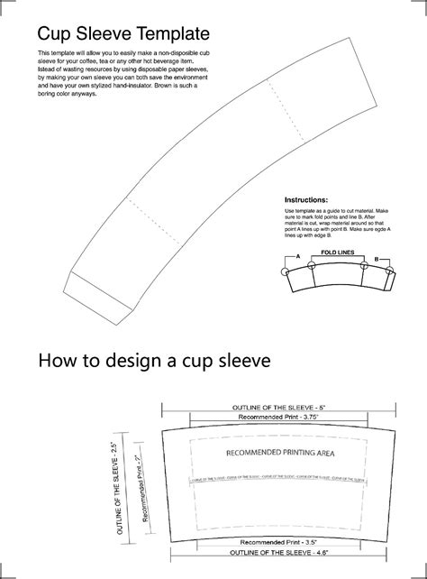 coffee cup sleeve template coffee cup sleeve template www pixshark images