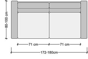 How Long Is A Standard Couch by Sofa Dimensions