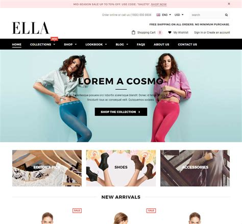 shopify themes ella ella shopify template download review 2018