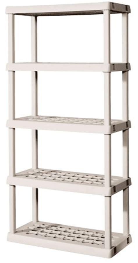 sterilite 01558501 5 shelf unit with light platinum