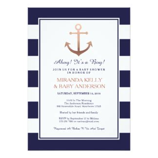 Nautical Theme Baby Shower Invitations by Nautical Invitations Announcements Zazzle