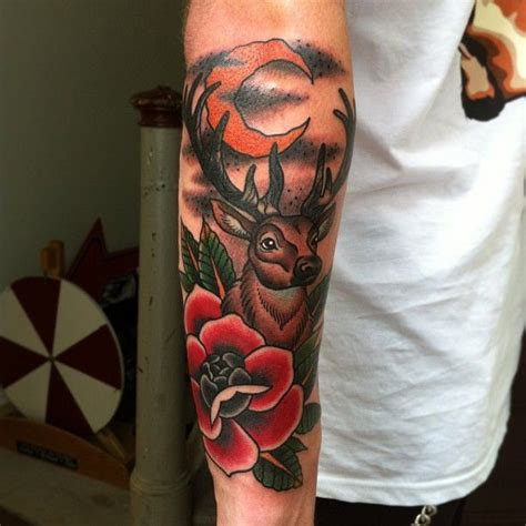 traditional deer tattoo 27 deer skull designs ideas