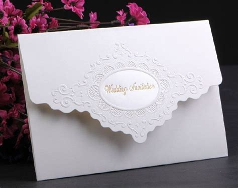 Simple Wedding Card Invitation Classic Style Tri Fold Card