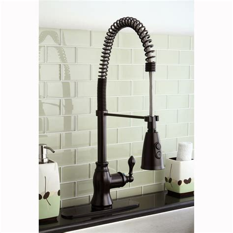 spiral kitchen faucet american classic modern oil rubbed bronze spiral pull down
