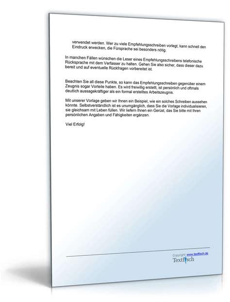 Musterbriefe Praktikum Empfehlung Eines Sch 252 Lers Muster Vorlage Zum