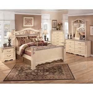 sanibel poster bedroom set signature design furniture cart