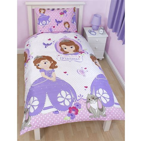 disney sofia the bedding single junior
