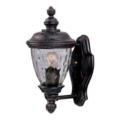 Carriage Outdoor Lights Maxim Lighting Carriage House Dc 1 Light Bronze Outdoor Wall Mount 3495wgob The Home