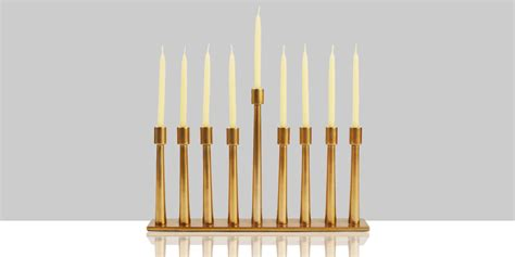These 20 Stylish Kitchen 13 modern menorahs for 2016 best gold and glass menorahs
