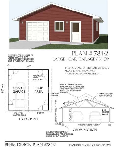 garage and shop plans garage with shop plan 784 2 by behm design garage plans