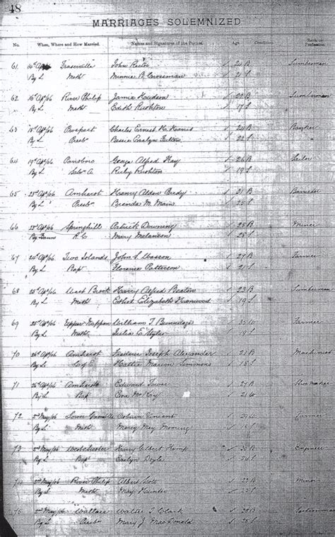 Cumberland County Marriage Records Scans Of The Cumberland County Scotia Marriage Records 1906 1908