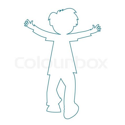 template of boy and best photos of boy and outline template