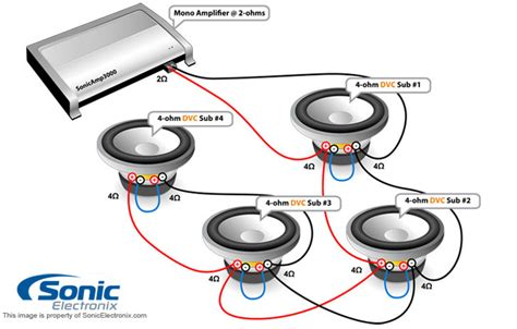 single sub dual voice coil wiring diagram dual 4 ohm