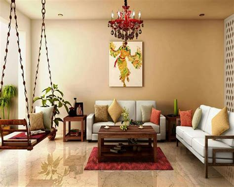 modern indian living apace  swing chairs