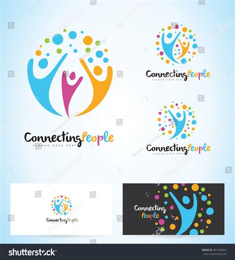 design concept unity people logo design unity logo design concept stock vector