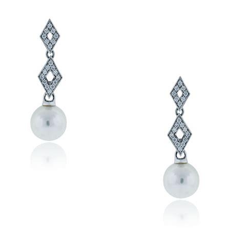 18k Gold Drop Earring mikimoto 18k white gold pearl drop earrings