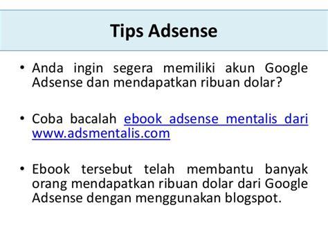 adsense mentalis pengertian google adsense adsense adalah