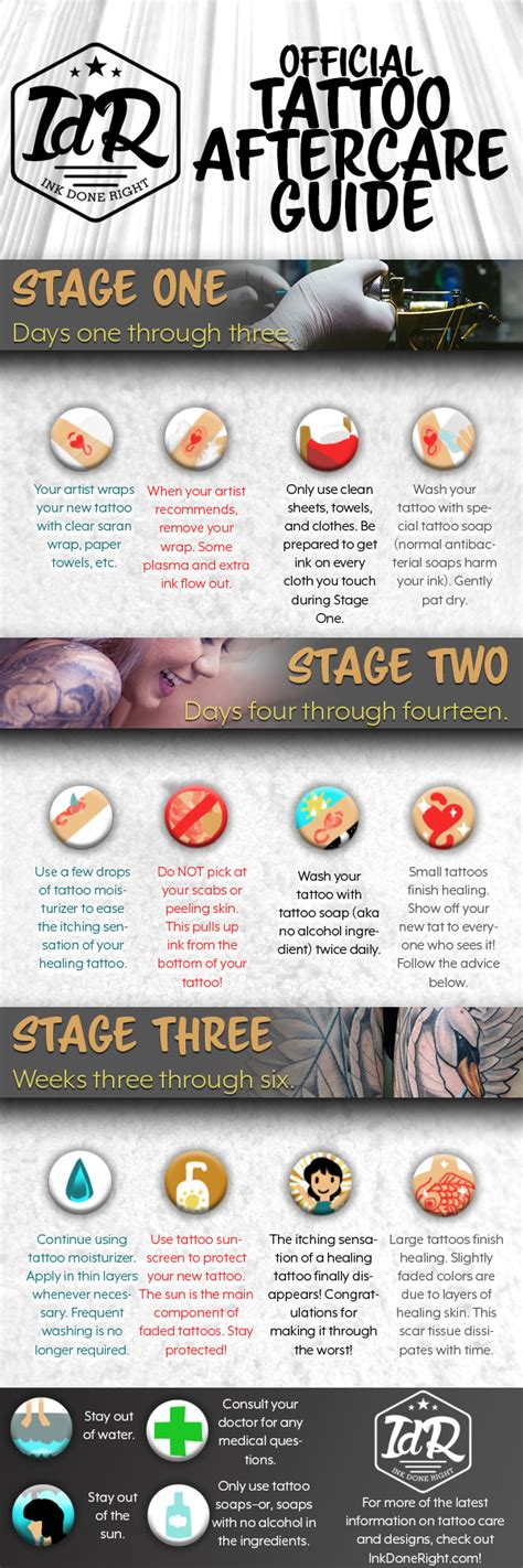 tattoo aftercare sleep how to care for a tattoo aftercare guide infographics race