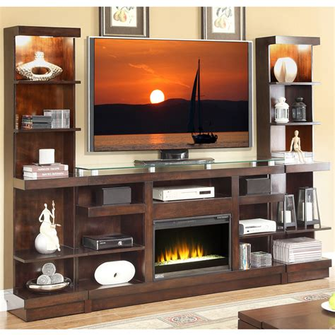 Wall Unit Entertainment Center With Electric Fireplace by Novella 3 Entertainment Wall Unit W Fireplace In