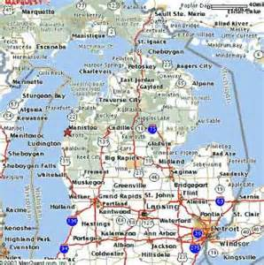 Detailed Map Of Michigan by Detailed Road Map Of Michigan Video Search Engine At