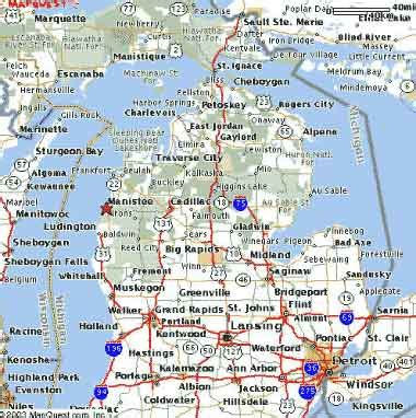 Of Michigan Search Detailed Road Map Of Michigan Search Engine At Search