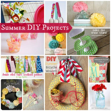 diy summer craft projects summer diy projects