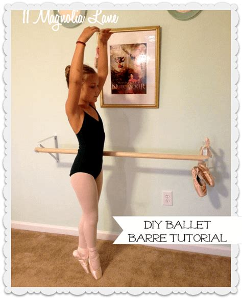 ballet barre in bedroom another diy ballet barre for my little ballerina 11